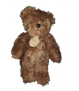 Peluche doudou ours marron longs poils 20 cm Histoire d'Ours