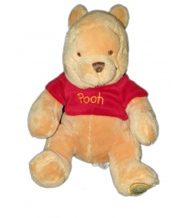 Peluche doudou Winnie pull rouge The Pooh 25 cm Disney Store exclusvie