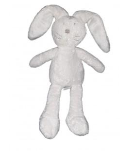 Peluche doudou Lapin blanc gris 28 cm Jacadi