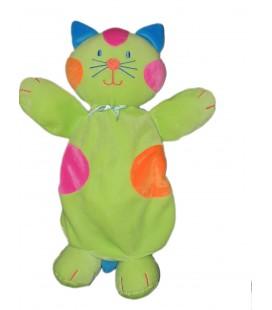 Peluche doudou Range Pyjama Chat vert Maxita 52 cm