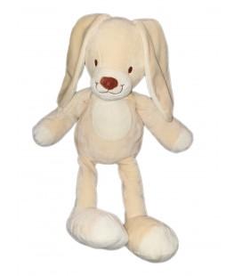 Doudou lapin beige clair creme blanc nez marron 42 cm Nicotoy 587/0601