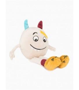 Doudou peluche Monster boy Kimbaloo monstre gris biege 32 cm