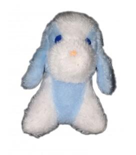 Peluche Chien blanc bleu yeux bleus Boulgom 18 cm