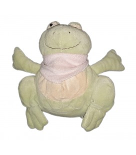 Peluche doudou grenouille verte Playkids 22 cm