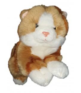 Peluche doudou chat roux blanc Gipsy 24 cm