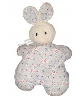 Vintage ancien doudou peluche tissu Lapin blanc bleu Baby bear Range Pyjama Poche 45 cm