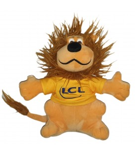 Peluche doudou Lion orange LCL 2017 Banque et assurance 32 cm