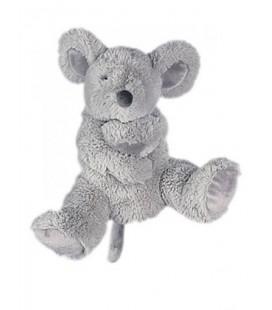 Peluche marionnette souris grise Histoire d'Ours 22 cm