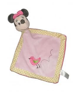 Doudou plat Minnie rose oiseau Disney Nicotoy