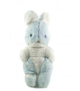 Peluche doudou Lapin bleu blanc Boulgom 26 cm grelot