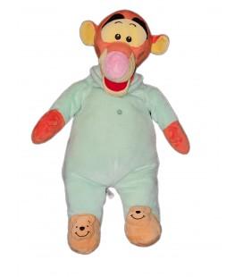 Peluche doudou Tigrou Pyjama vert chaussons Disney Nicotoy 45 cm 587/0209