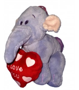 Peluche doudou Lumpy Disney Nicotoy Coeur I love you H 15 cm
