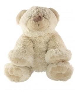 XXL Grande Peluche Ours beige nez museau marron Playkids 42 cm
