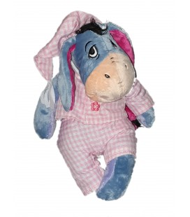 Peluche Doudou Bourriquet Pyjama rose carrreaux Disney Nicotoy 587/8042