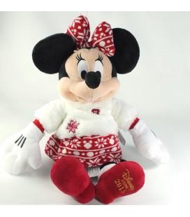 NEUF ETIQ. Peluche Minnie Mouse Noel Flocons Disney Store 2015 42 cm