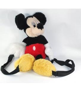 Peluche doudou Sac à Dos Mickey Longs Poils Disney Disneyland Paris 55 cm