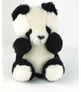 Ancienne peluche Doudou Vintage Panda noir blanc JOUAL 20 cm