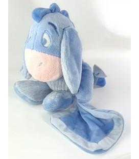 Peluche doudou Bourriquet bleu ciel clair Mouchoir 30 cm Disney Nicotoy 587/9808