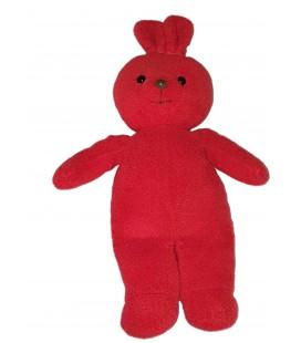Peluche doudou Lapin rouge Ajena 40 cm