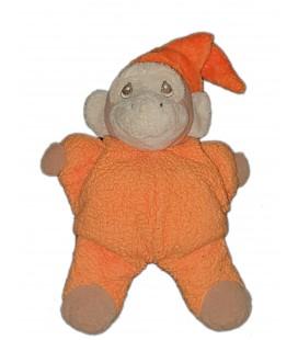 Peluche doudou Singe orange Ajena 26 cm