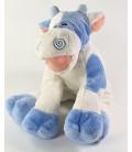 Peluche Doudou Vache blanche bleue Lazy Daisy Anna Club Plush 28 cm