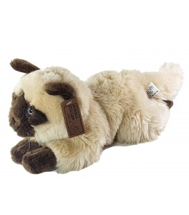 Peluche Doudou chat beige marron siamois allongé 38 cm Anna Club Plush