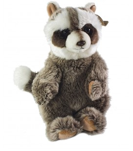 Peluche Doudou Panda marron blanc Anna Club Plush 26 cm