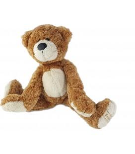 Peluche Doudou ours marron roux blanc Anna Club Plush 26 cm