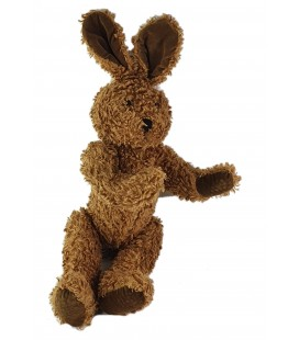 Peluche Doudou Lapin marron Anna Club Plush 30 cm