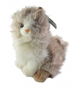 Peluche Chat beige assis 26 cm Anna Club Plush