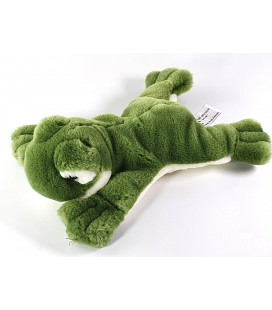 Peluche doudou Grenouille allongée 26 cm Anna Club Plush