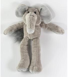 Peluche doudou Elephant gris 23 cm Anna Club Plush