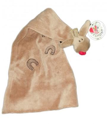 Doudou Chapeau bonnet Harry Cheval beige marron EGMONT TOYS 40 cm