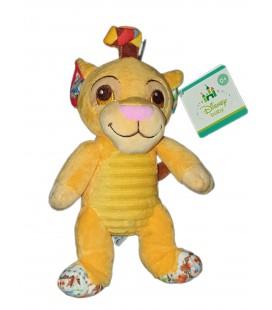 NEUF Peluche doudou Simba Le Roi Lion Grelot 23 cm Disney Baby Nicotoy ASuspendre