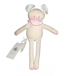 Doudou souris rose beige PETIT BATEAU 28 cm