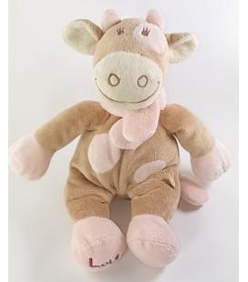 NOUKIES Doudou Vache Lola rose beige 28 cm