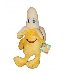 NEUF ETIQU. Peluche Doudou Banane Delta-Sport Liddl 35 cm