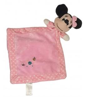 Doudou plat rose Minnie Coccinelle Disney Nicotoy