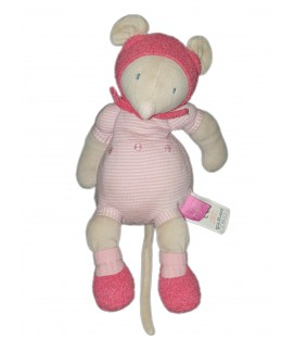 MOULIN ROTY - Doudou Souris rose Lila Patachon 28 cm