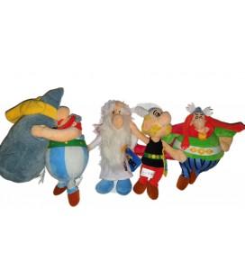 Lot de peluches Asterix Obelix Menhir Druide Abraracourcix Doudou 20 cm Delta Sport