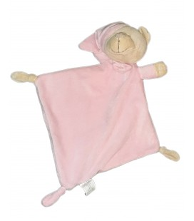 Doudou plat rose Bonnet Ours Duffi Master Baby Home