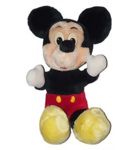 Vintage Ancienne peluche Mickey assis 30 cm Disney World