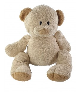 Peluche doudou Ours beige Nicotoy 25 cm