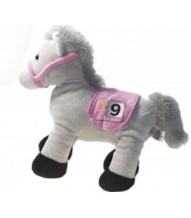 Doudou peluche cheval qui hénnie gris rose Royal Gogo 9 25 cm Prix Gipsy