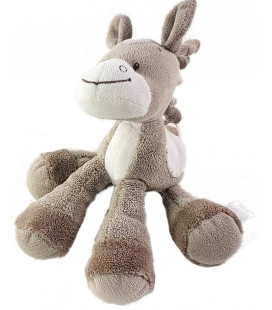 Doudou Noa Cheval gris Nattou Grelot 22 cm