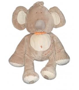 Doudou peluche Kiki Koala beige Foulard orange Playkids 40 cm