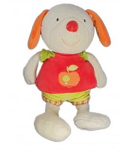 NE FONCTIONNE PLUS Doudou peluche Lapin blanc rouge pomme Musical Babysun 32 cm