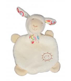 Doudou plat Mouton Angeau blanc soleil BABYSUN
