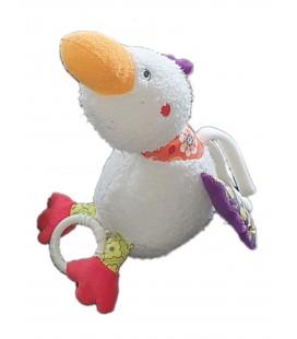 Doudou peluche Canard blanc Musical Babysun 26 cm