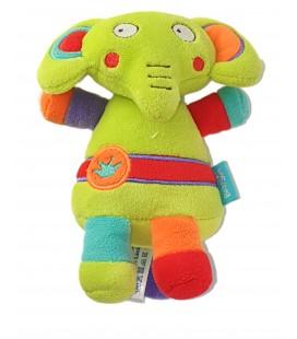 Doudou Elephant Vert 15 cm Babysun